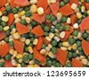 close up of mixed vegetable salad food background - stock photo