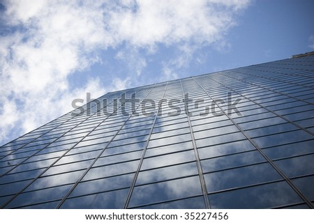close up of modern building / abstract architectural background