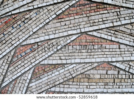 close-up of mosaic texture - stock photo