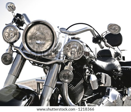 Close-up of motorcycle - Cool Harley - stock photo