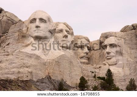 Close-up of Mount Rushmore, Black Hills, Utah - stock photo