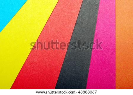 close-up of multi colored paper
