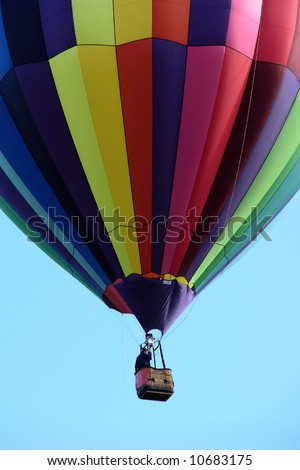 Close-up of multicolor hot air balloon - stock photo