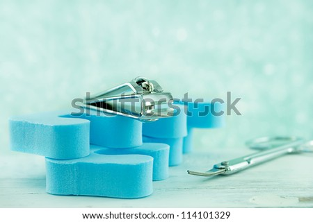 Close up of nail clippers - stock photo
