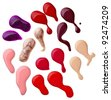 close up of nail polish drop on white background with clipping path - stock photo