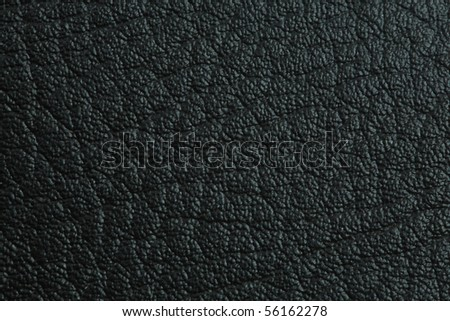 Close up of Natural black leather texture  for background - stock photo