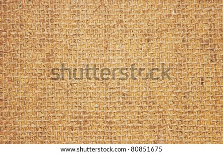 Close-up of natural canvas texture - stock photo