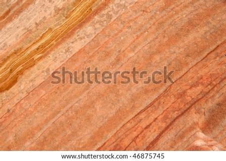 Close-up of Navajo sandstone rock,  Zion National Park - stock photo