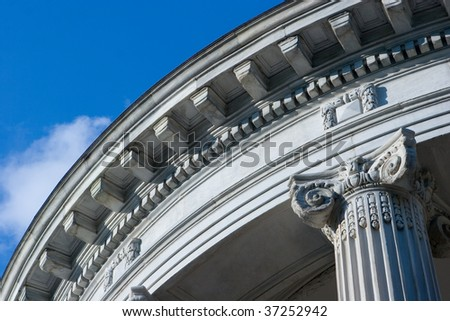 Close up of Neo Classical Style Architecture - stock photo