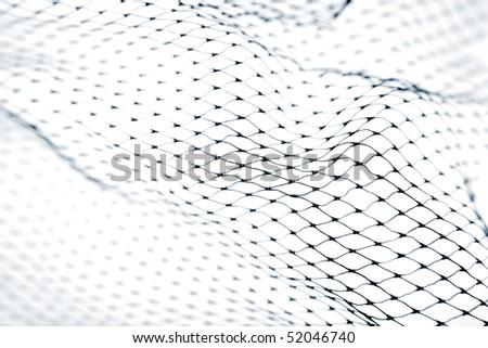 Close-up of netting on white background - stock photo