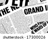 Close up of new paper headlines - stock photo
