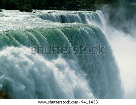 Close-up of Niagara Falls - stock photo