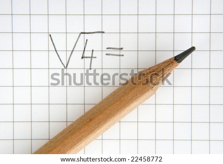 close up of notebook and pencil - stock photo