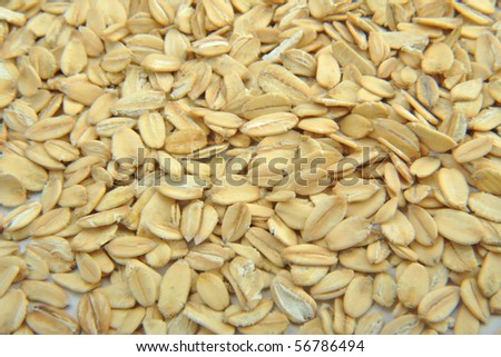 Close up of oatmeal background - stock photo