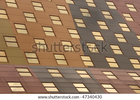 Close-up of office building windows - stock photo