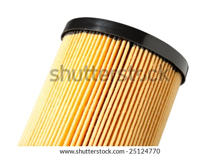 Close up of oil filter media - stock photo