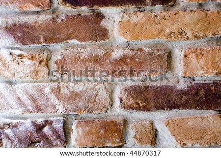 close up of old abstract brick wall background