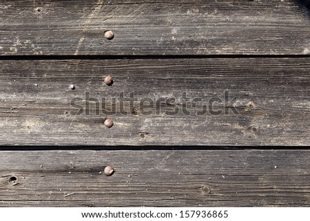 Close-up of old doors - stock photo