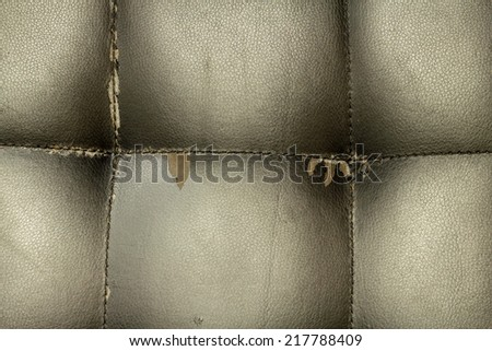 Close up of old leather texture for background - stock photo