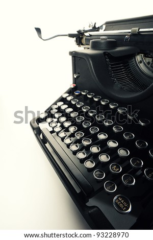 close up of  Old Vintage Typewriter