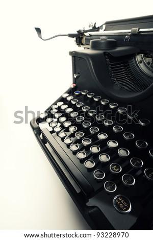close up of  Old Vintage Typewriter - stock photo