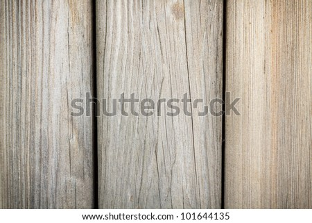 Close up of old weathered planks - stock photo