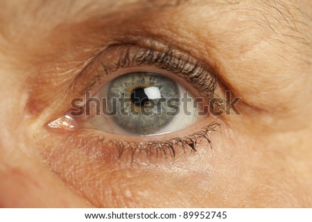 Close up of old womans eye