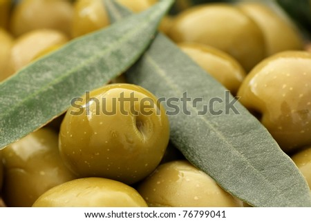 Close up of Olives . Olives background,shallow dof - stock photo