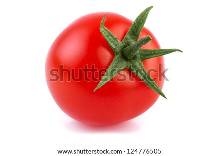 close up of one tomato - stock photo
