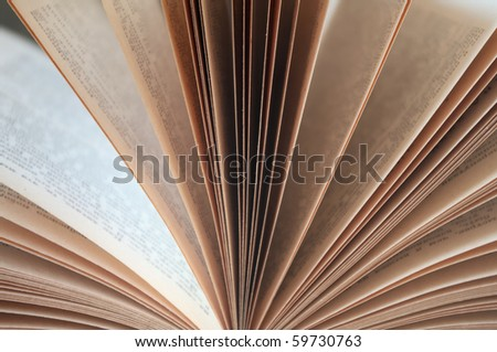Close-up of open book - stock photo