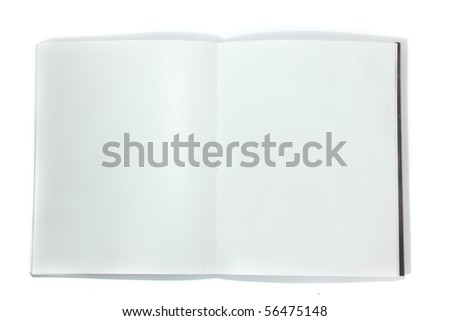 close up of open book isolated - stock photo