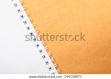 Close up of open white note book - stock photo