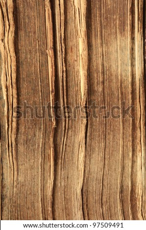 Close-up of opened old book pages - stock photo
