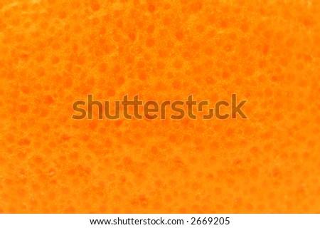 Close-up of orange skin - stock photo