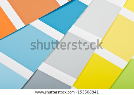 Close up of paint color samples  - stock photo