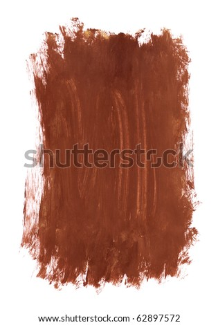 Close up of paint strokes on white background - stock photo