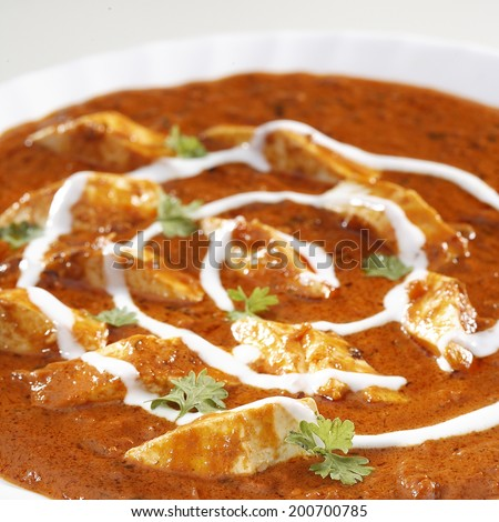 Close up of Paneer Makhani, India - stock photo