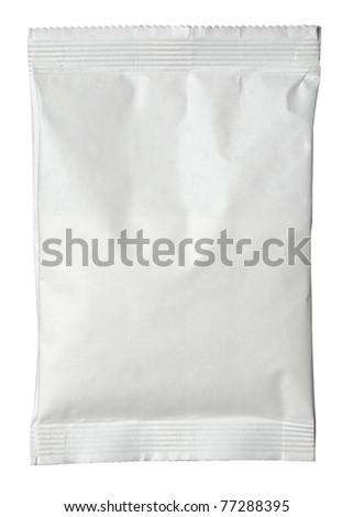 close up of paper bag on white background with clipping path