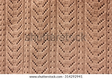 Close-up of pattern of knitting. - stock photo