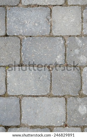 Close-up of paving stones - stock photo