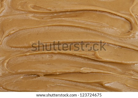 Close up of peanut butter spread - stock photo