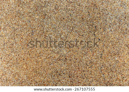 Close up of pebble stones floor texture background