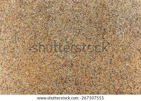 Close up of pebble stones floor texture background - stock photo
