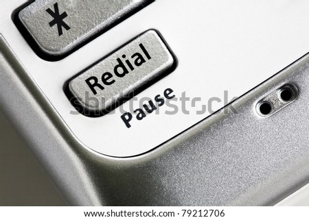 Close up of phone buttons - stock photo