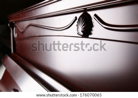 close-up of piano - stock photo