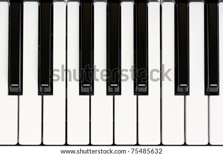 close up of piano keyboard - stock photo