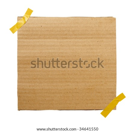 close up of piece of cardboard on white background - stock photo