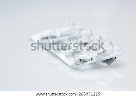 close up of  pill package   - stock photo