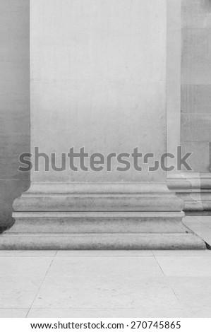Close up of pillar of  British Museum  building in London, UK - stock photo