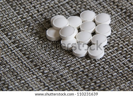 Close up of pills - stock photo